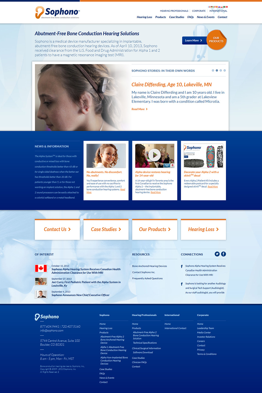 New landing page